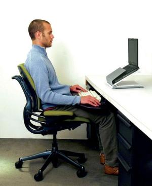 Helyes testtartás számítógépes munkáknál