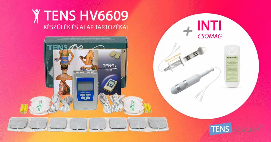 TENS HV6609 készülék + INTI csomag speciális elektródákkal