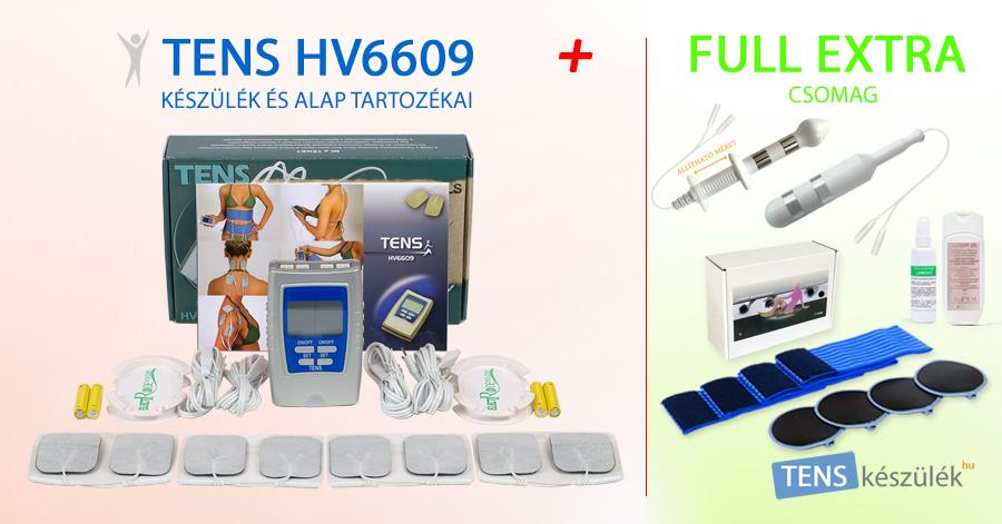 TENS HV6609 készülék + Full Extra csomag