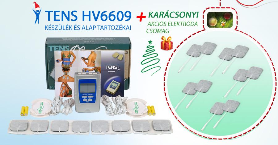 TENS HV6609 készülék + Karácsonyi Akciós elektróda csomag