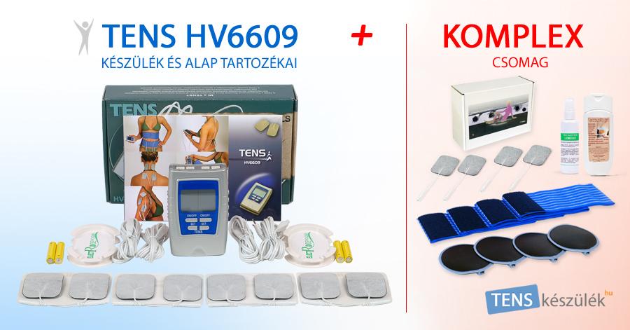 TENS HV6609 készülék + Komplex csomag